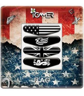 پک چهارعددی لایت بار دسته پلی استیشن 4 طرح Flag