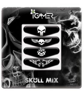 پک چهارعددی لایت بار دسته پلی استیشن 4 طرح Skull Mix