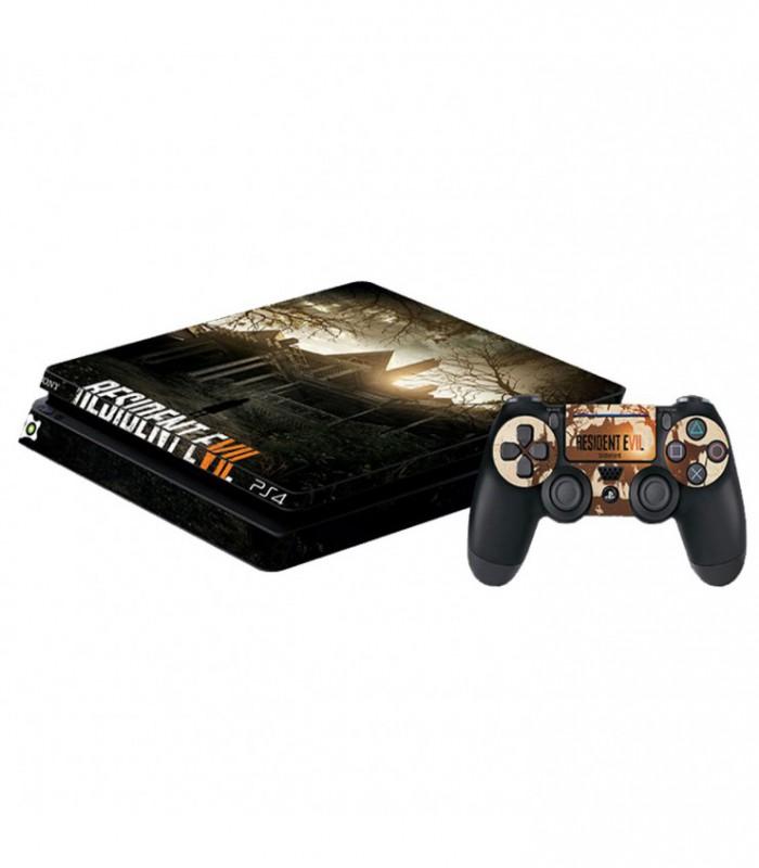 اسکین PS4 اسلیم طرح Resident Evil