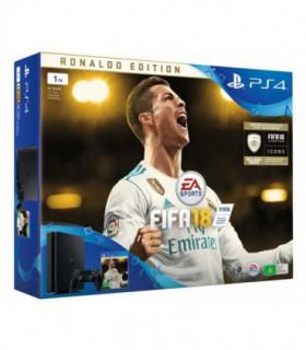 پلی استیشن 4 اسلیم 1 ترابایت باندل فیفا 18رونالدو ادیشن بدون بازی  PS4 Slim 1TB FIFA 18 Ronaldo Edition Bundle