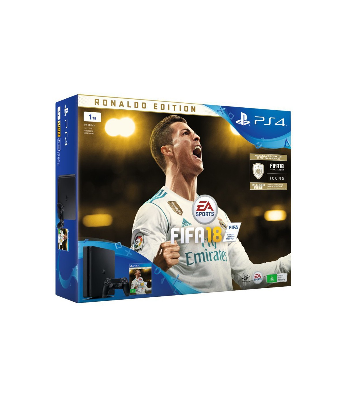 پلی استیشن 4 اسلیم 500 گیگ باندل فیفا 18 PS4 Slim 500GB Ronaldo Edition