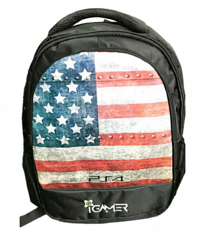 کیف کنسول PS4 آی گیمر مدل کوله پشتی طرح Flag