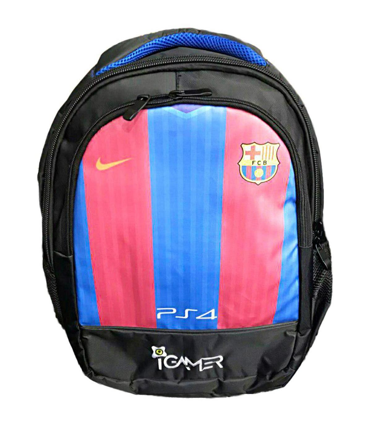 کیف کنسول PS4 آی گیمر مدل کوله پشتی طرح Barcelona