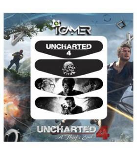پک چهارعددی لایت بار دسته پلی استیشن 4 طرح Uncharted 4