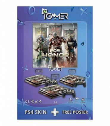 اسکین PS4 طرح For honor