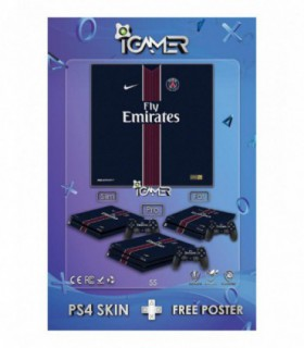 اسکین PS4 طرح Paris Saint-Germain