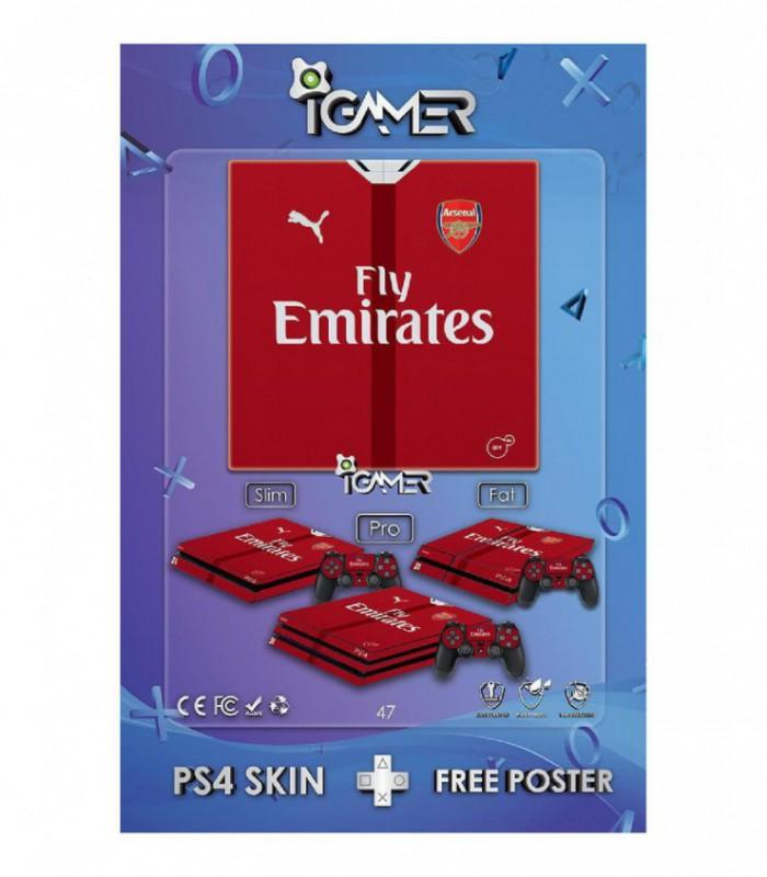 برچسب پلی استیشن طرح Arsenal