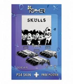 اسکین PS4 اسلیم طرح Skulls