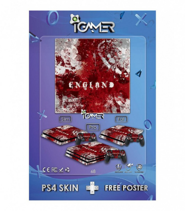 اسکین PS4 اسلیم طرح Bloody England