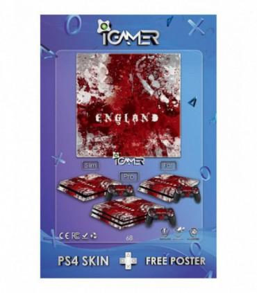 اسکین PS4 طرح Bloody England