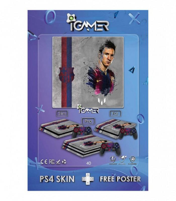 اسکین PS4 اسلیم طرح Messi