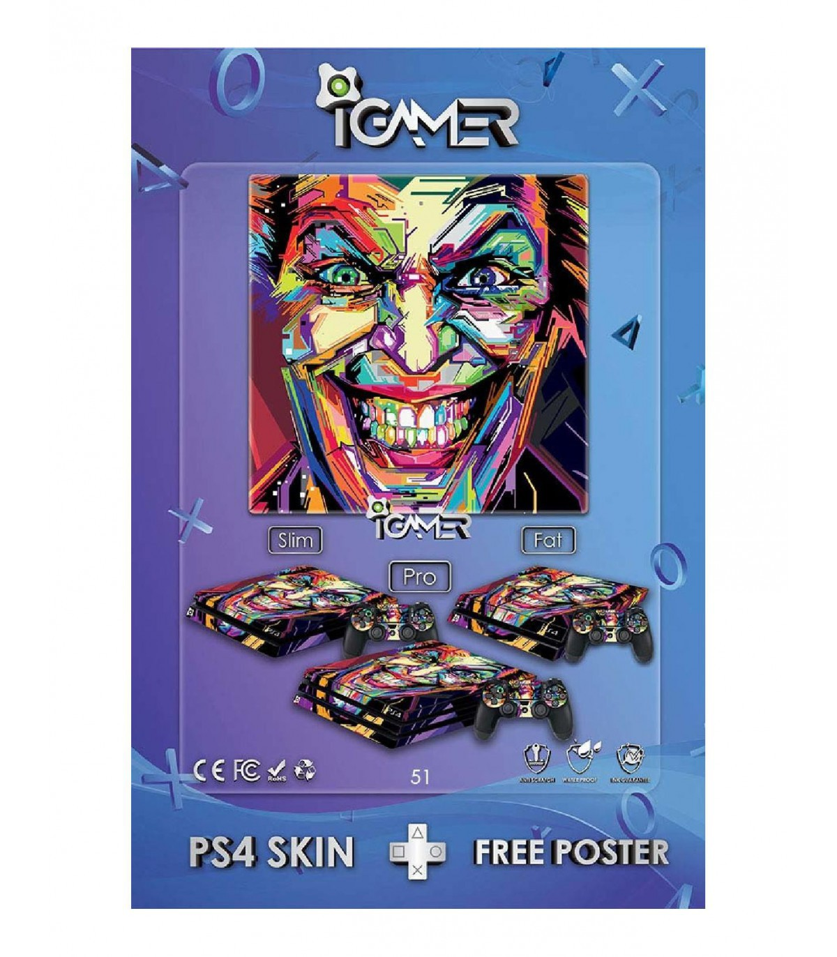 برچسب پلی استیشن طرح Joker 3