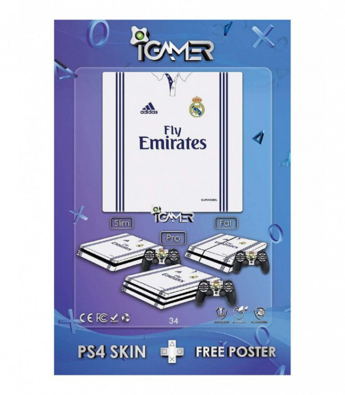 اسکین PS4 طرح Real Madrid