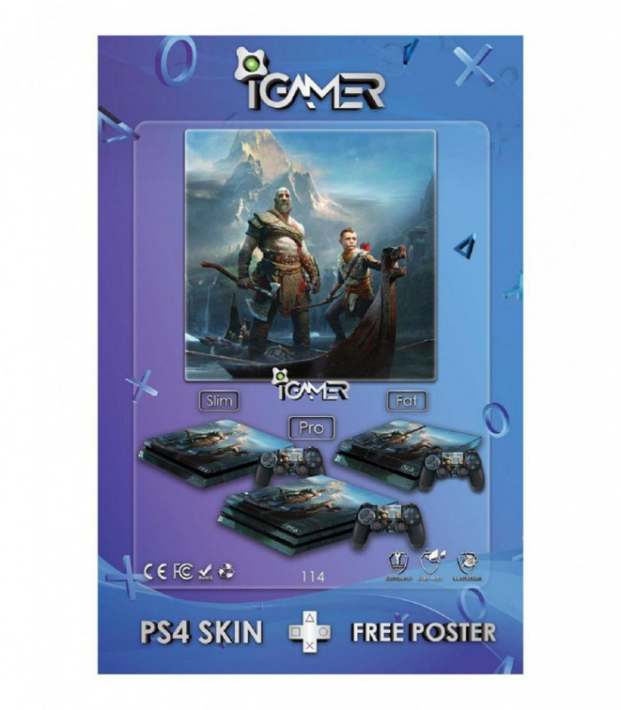 اسکین PS4 آی گیمر طرح جدید شماره 14