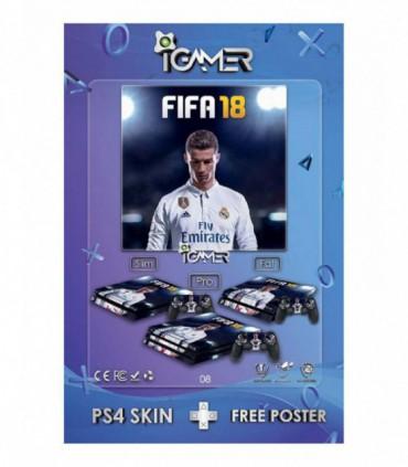 اسکین PS4 طرح FIFA18