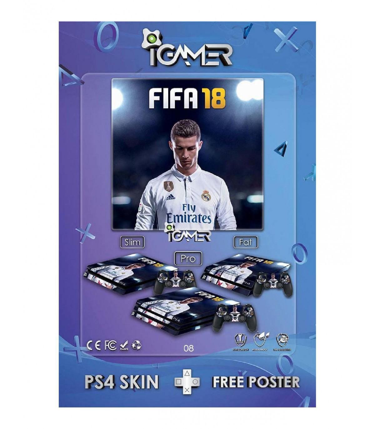 اسکین PS4 اسلیم طرح FIFA18