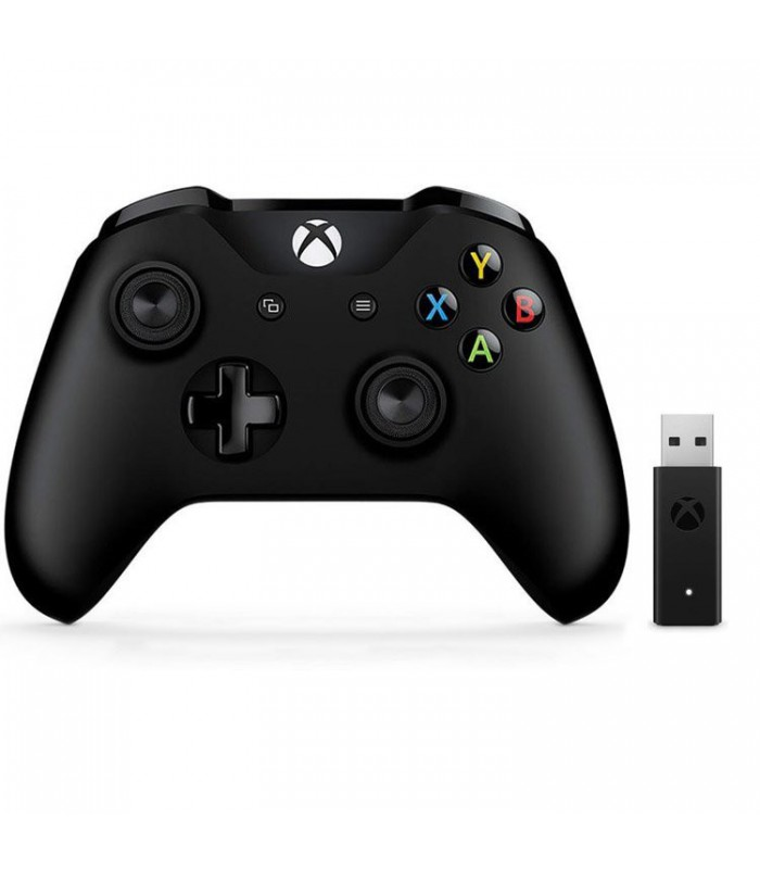 دسته بازی Xbox Wireless Controller + دانگل بیسیم برای Windows 10