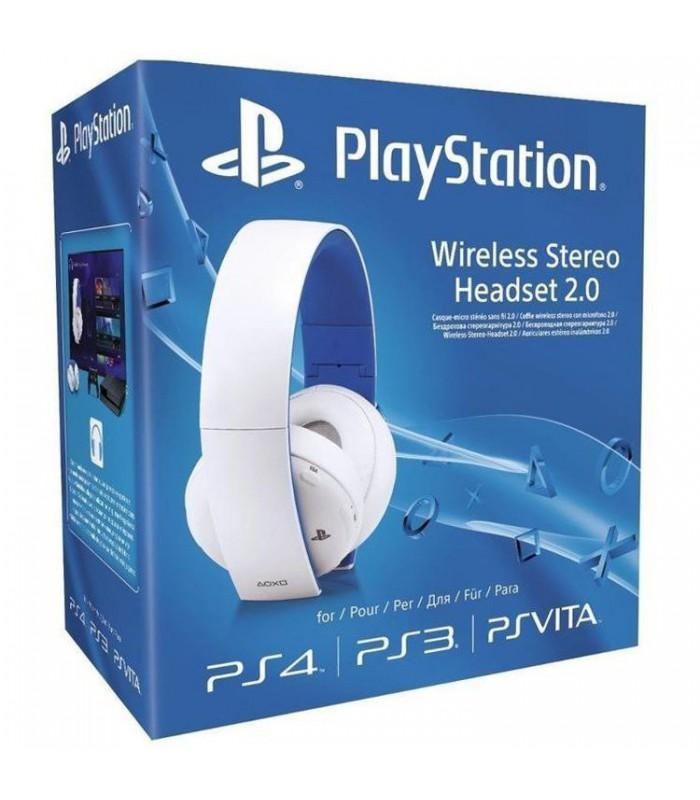 هدست پلی استیشن ورژن ۲ سفید  Sony PlayStation Wireless Stereo Headset 2.0 White