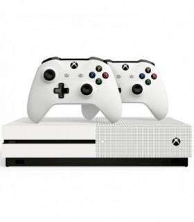 کنسول بازی Xbox One S سفید 1 ترابایت همراه با 2 دسته