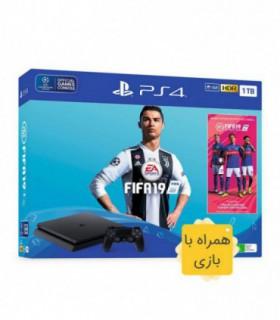 پلی استیشن 4 اسلیم ظرفیت 1 ترابایت باندل فیفا 19 PS4 Slim CUH-2216B  Fifa 19 Bundle - همراه بازی