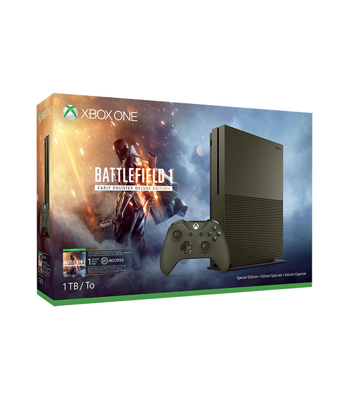 کنسول بازی Xbox One S باندل Battlefield 1 نسخه limited
