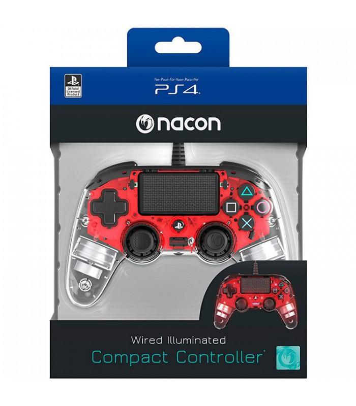 دسته NACON مخصوص پلی استیشن 4 سری جدید Wierd Compact - قرمز