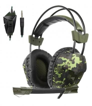 هدست گیمینگ طرح ارتشی Gaming Headset Sades SA921plus