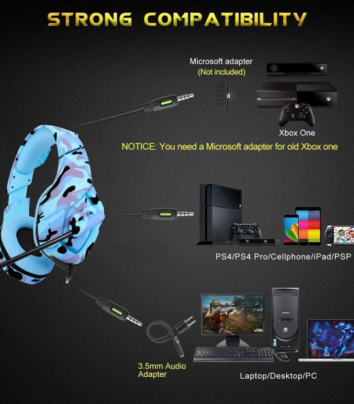 هدست بازی PS4, Xbox One, PC با میکروفن مدل ONIKUMA K1