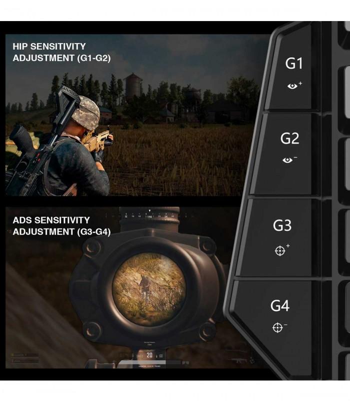موس و کیبورد بیسیم GameSir VX Aimswitch برای PS4/ Xbox