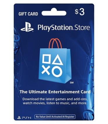 گیفت کارت 3 دلاری آمریکا  PlayStation 3$ Gift Card