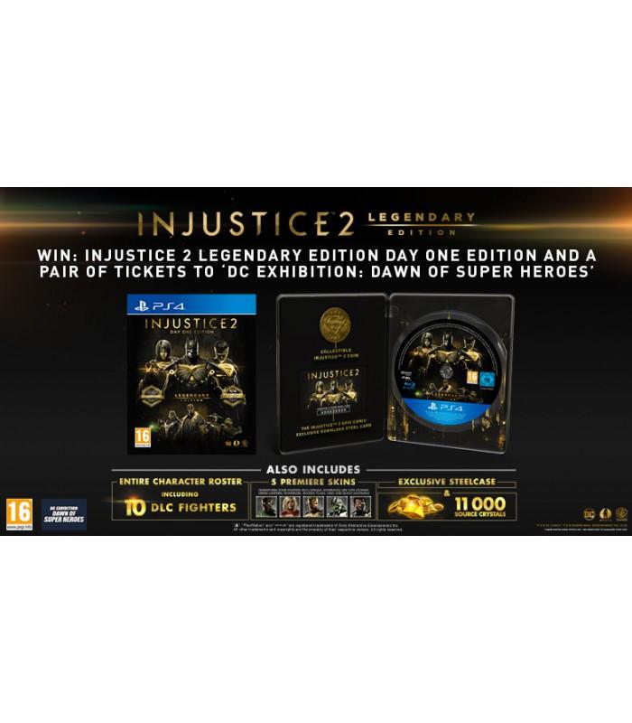 بازی Injustice 2 Legendary Edition Day One Limited Steelbook کارکرده - پلی استیشن ۴