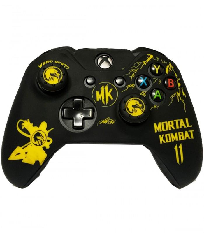 روکش دسته ایکس باکس وان + محافظ سر آنالوگ طرح Mortal Kombat 11