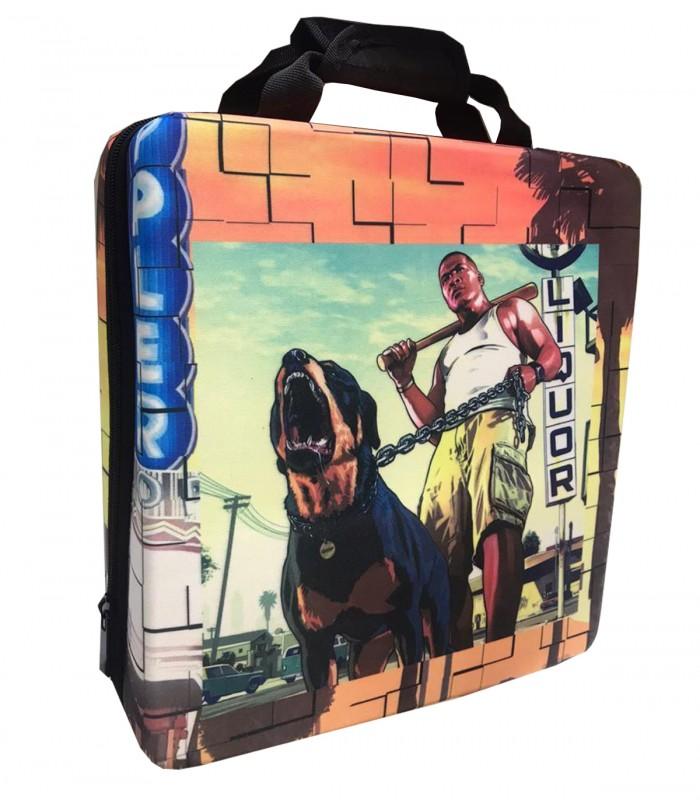 کیف حمل ضد ضربه برای پلی استیشن ۴ طرح Grand Theft Auto