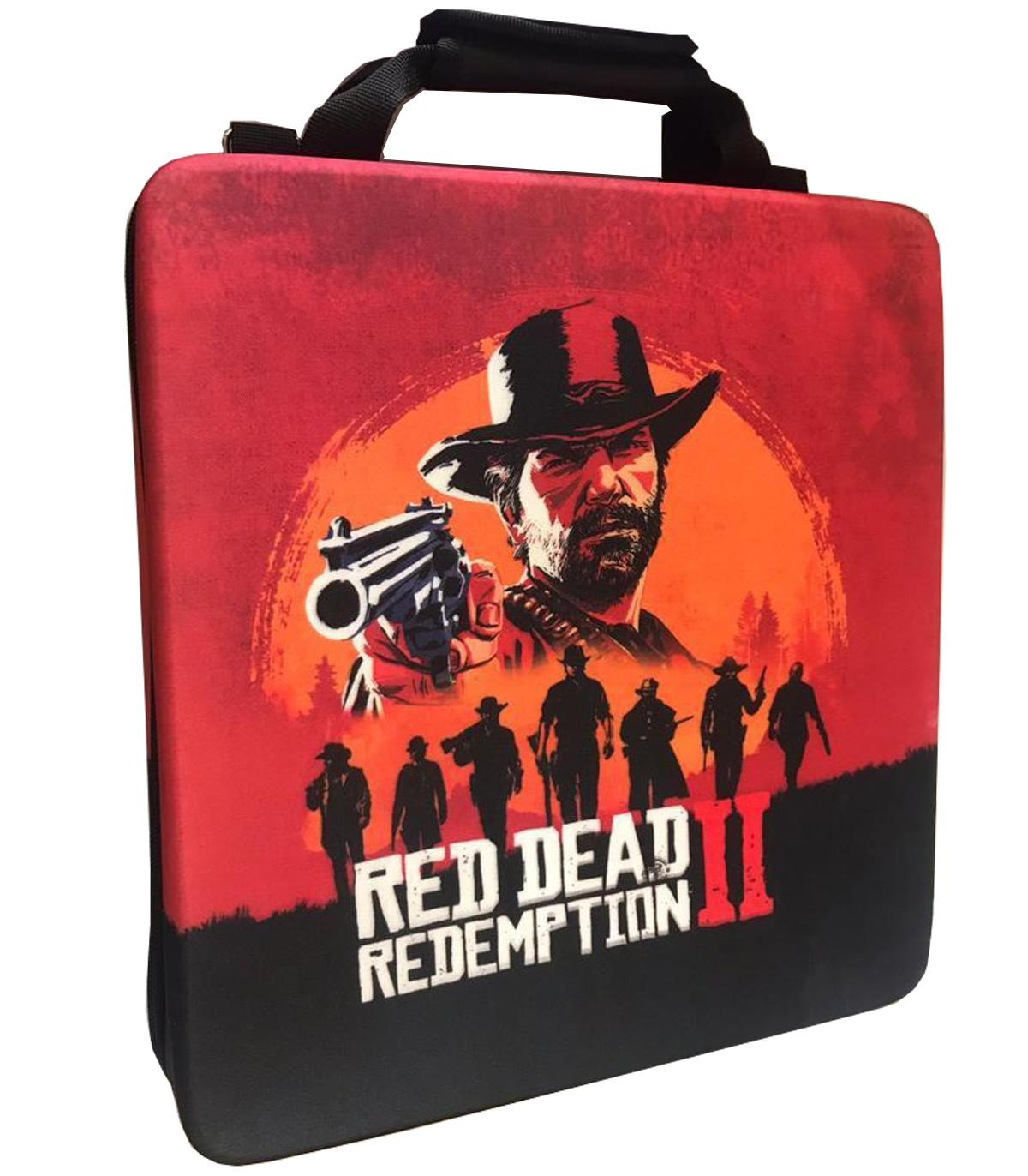 کیف حمل ضد ضربه برای پلی استیشن ۴ طرح Red Dead Redemption 2