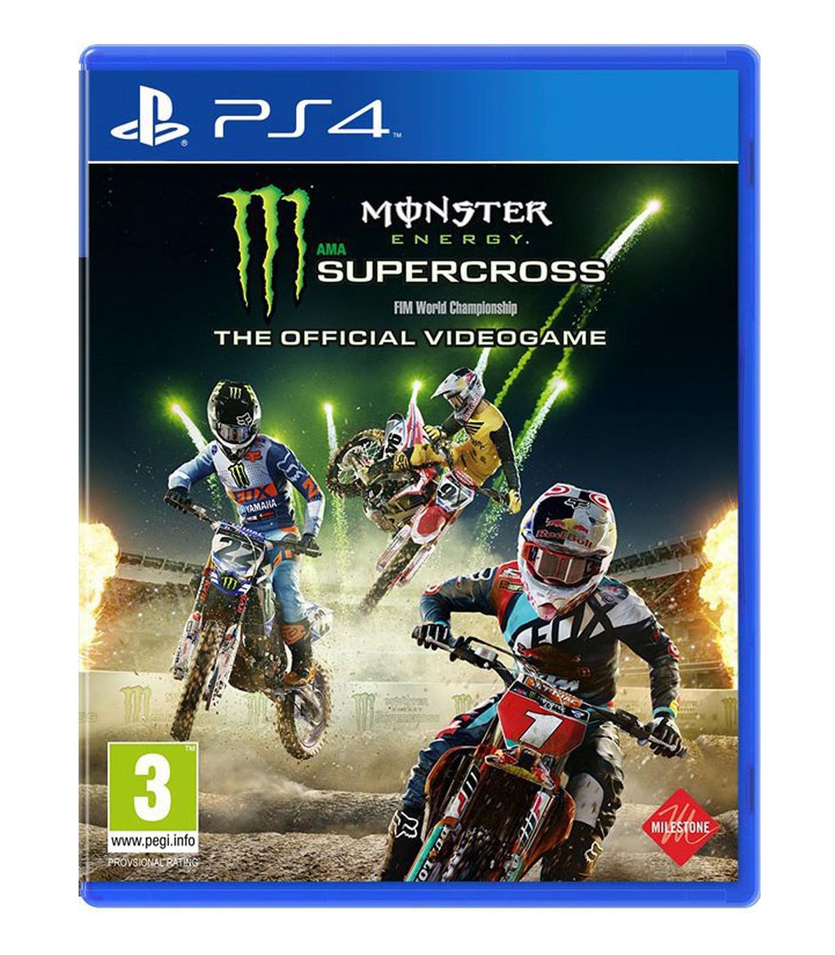 بازی Monster Energy Supercross: The Official Videogame کارکرده - پلی استیشن 4