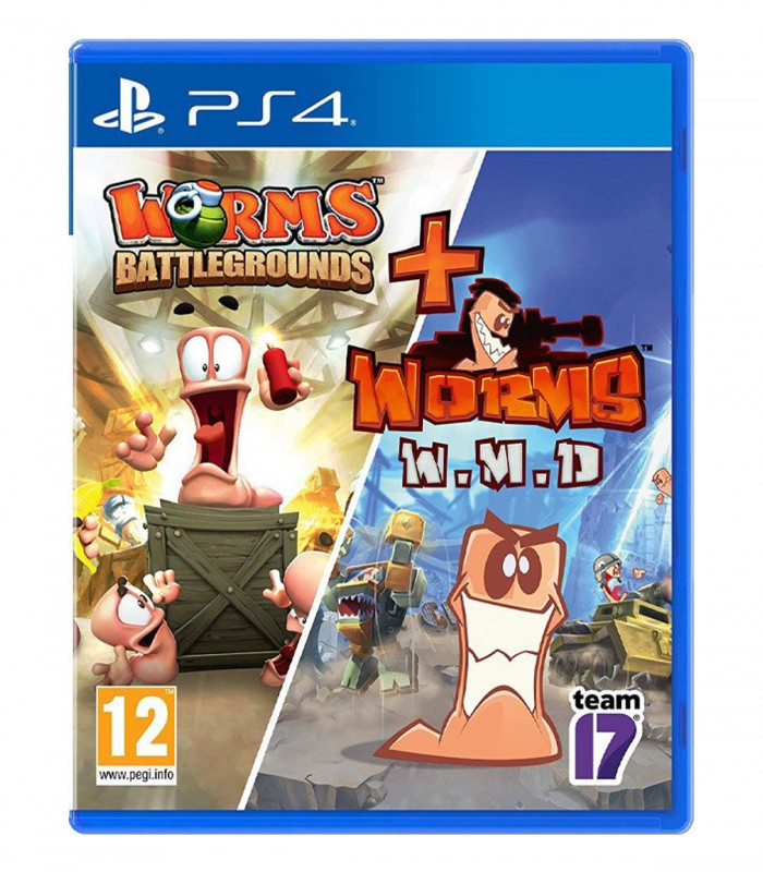 بازی Worms Battlegrounds + Worms W.M.D - پلی استیشن 4
