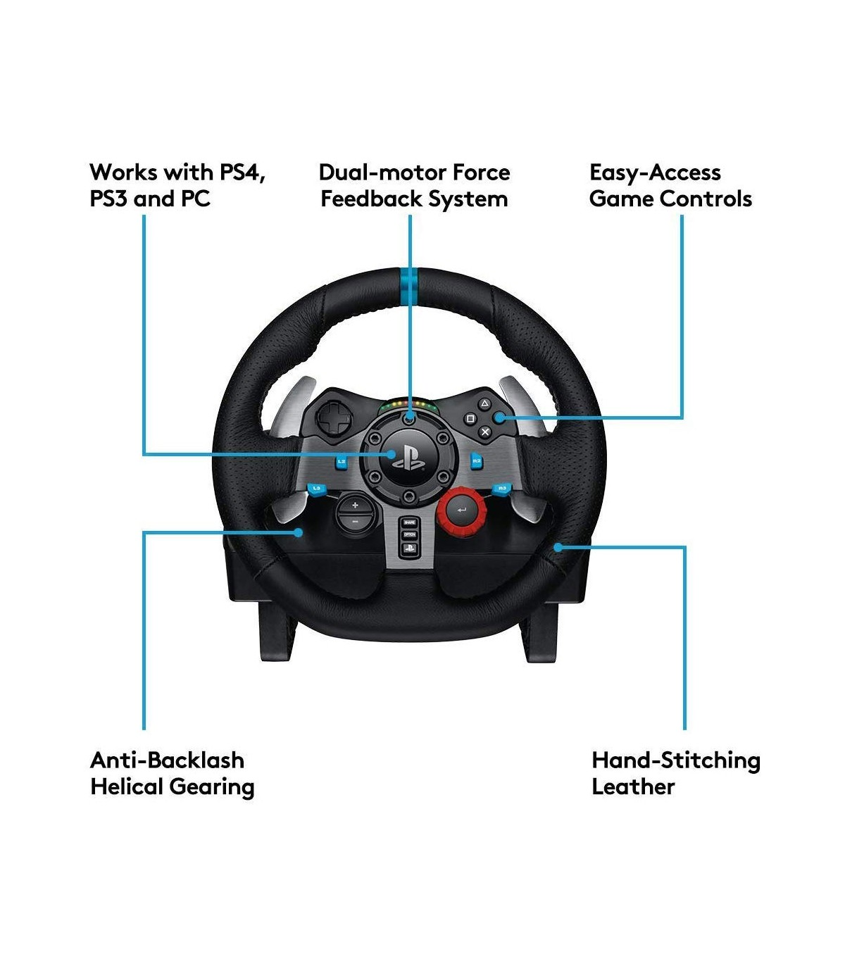 فرمان بازی لاجیتک Logitech G29 Driving Force Racing Wheel