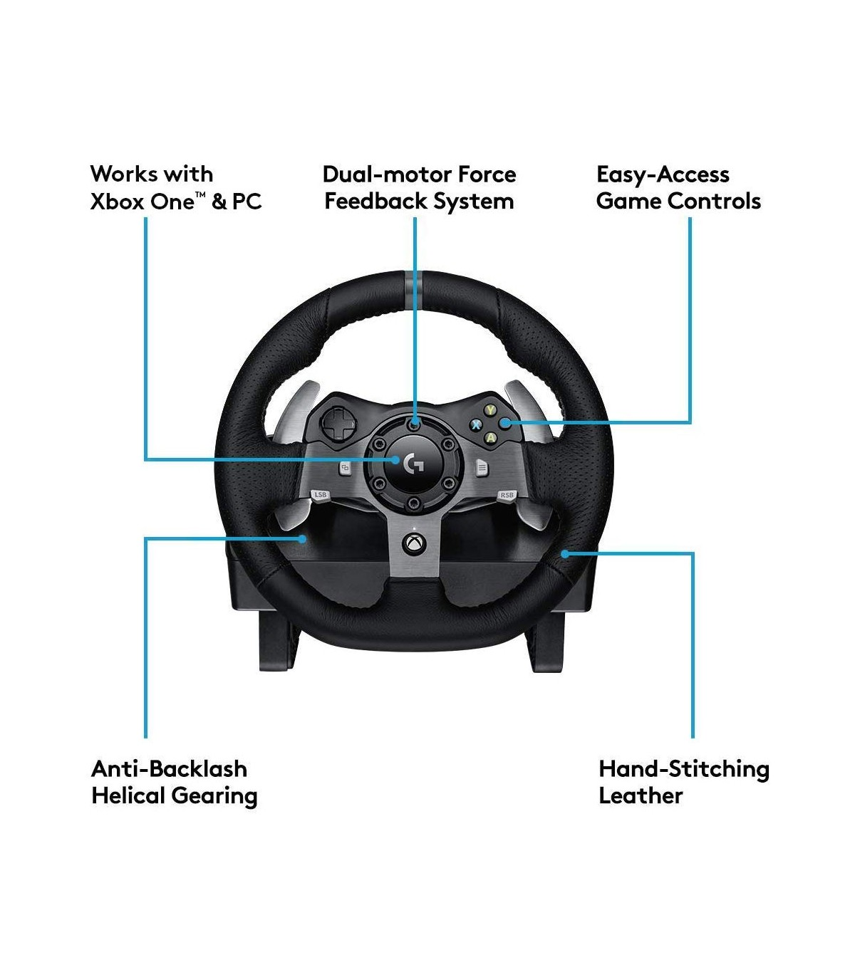 فرمان بازی لاجیتک Logitech G920 Driving Force Racing Wheel
