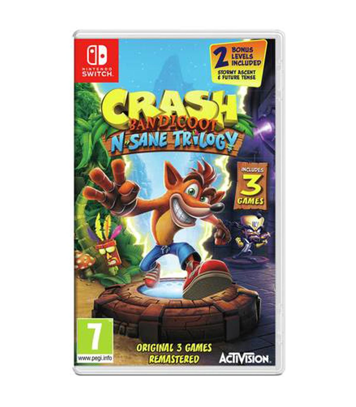 بازی Crash Bandicoot N. Sane Trilogy کارکرده - نینتندو سوئیچ