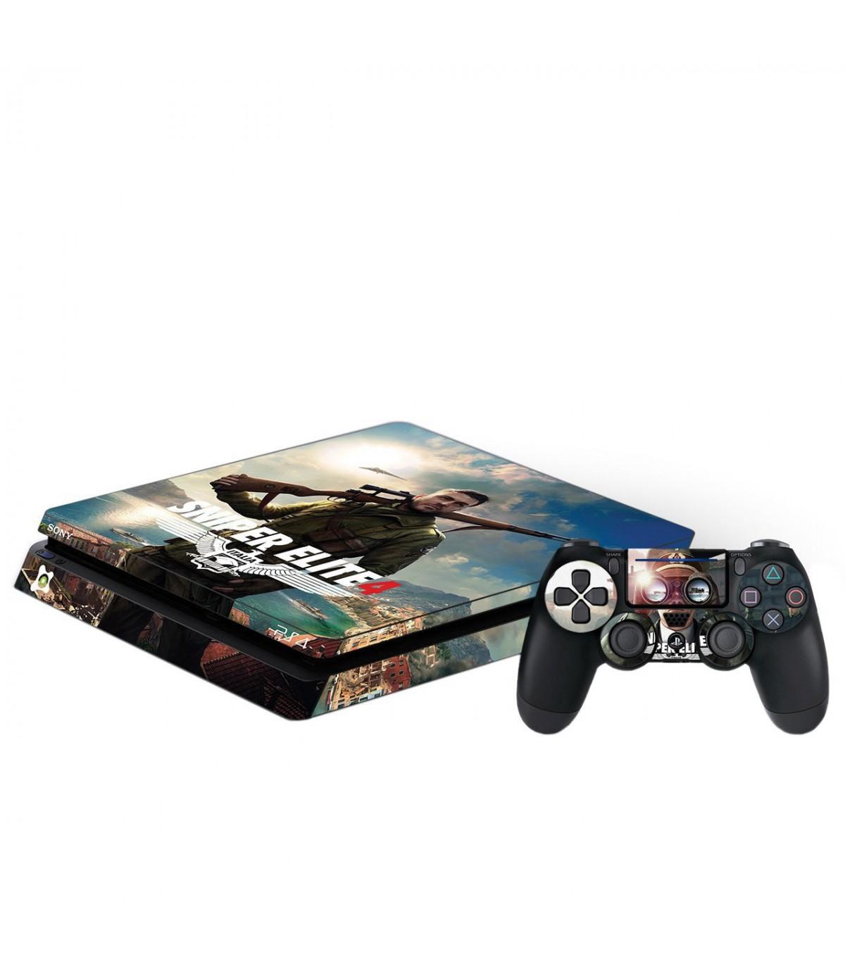 اسکین PS4 اسلیم طرح Sniper Elite 4