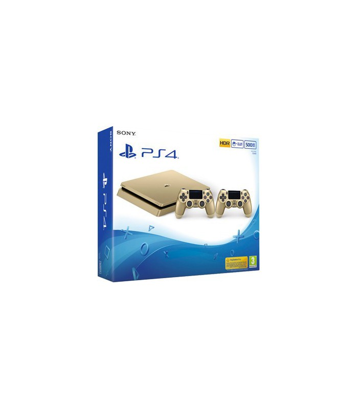 PlayStation 4 Slim Gold 2 controllers -500GB