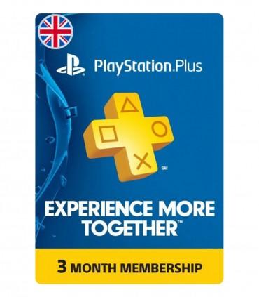 پلی استیشن پلاس سه ماهه انگلیس Sony PlayStation Plus UK 3 months
