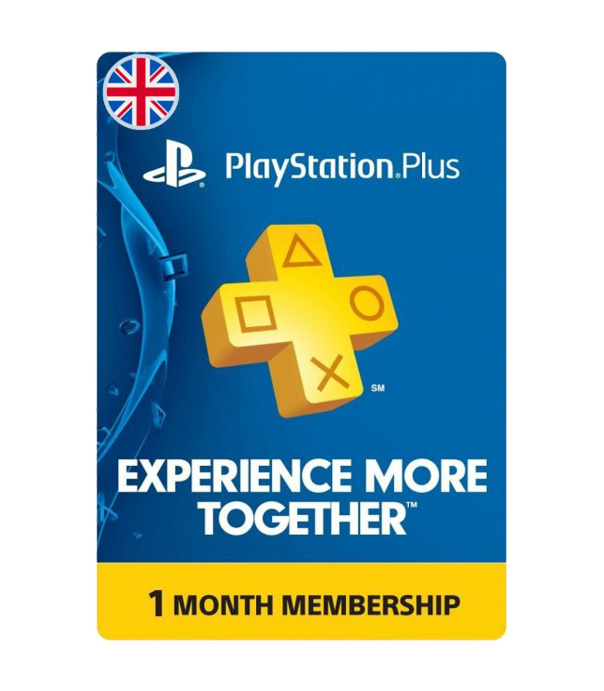 پلی استیشن پلاس یک ماهه انگلیس Sony PlayStation Plus UK 1 months