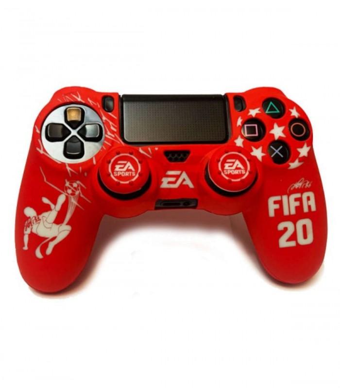 روکش دسته پلی استیشن 4 مدل FIFA 20 همراه با ۲ عدد محافظ آنالوگ