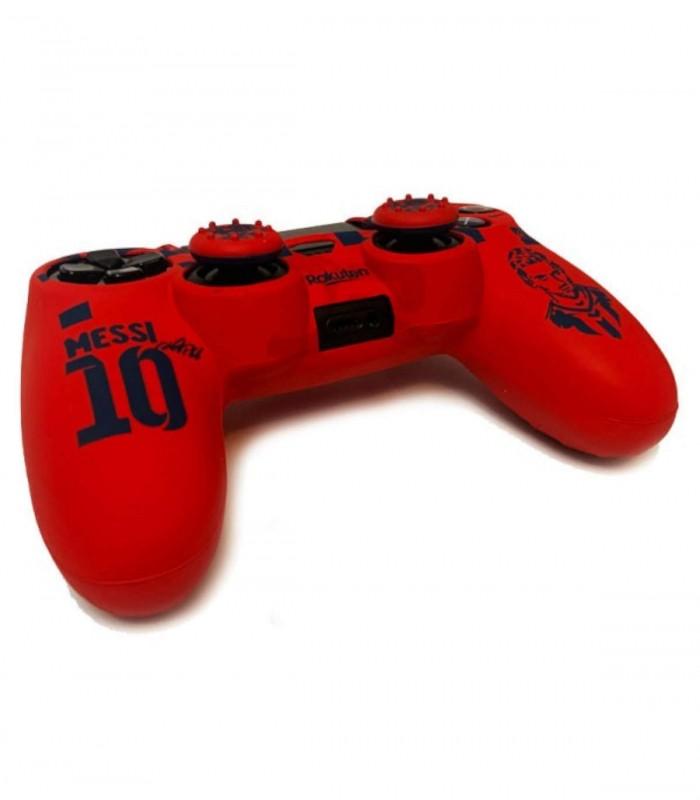 روکش دسته پلی استیشن 4 مدل Barca/Messi همراه با ۲ عدد محافظ
