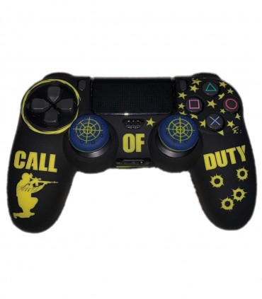 روکش دسته پلی استیشن 4 مدل Call Of Duty همراه با ۲ عدد محافظ آنالوگ
