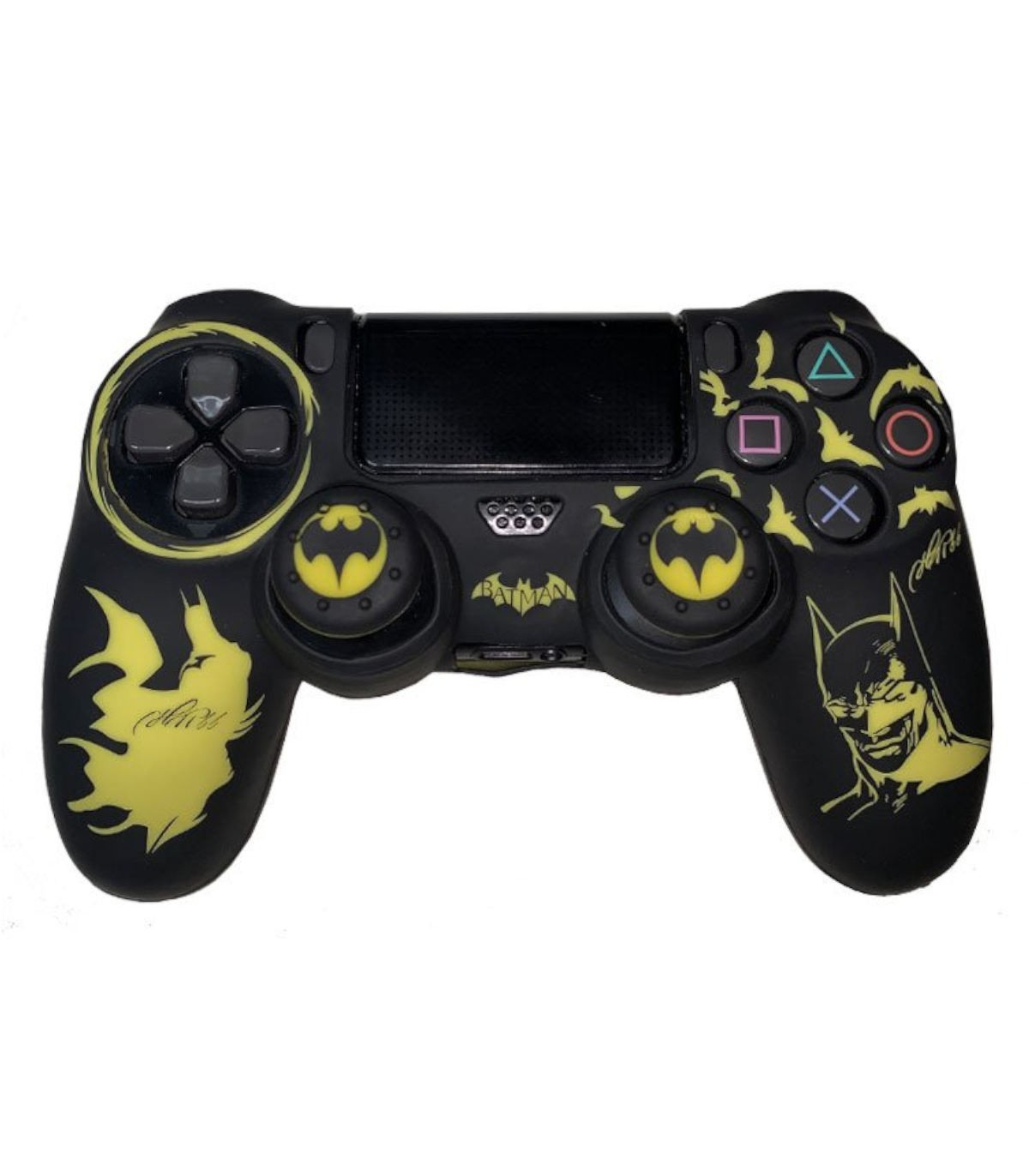 روکش دسته پلی استیشن 4 مدل Batman همراه با ۲ عدد محافظ آنالوگ