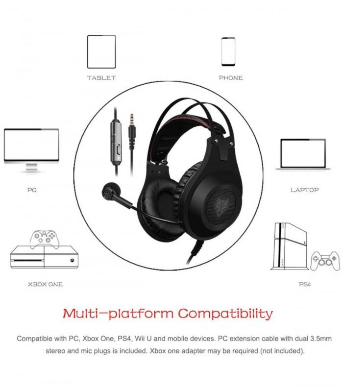 copy of Nubwo S8 هدست بی سیم/با سیم، با میکروفن برای بازی،