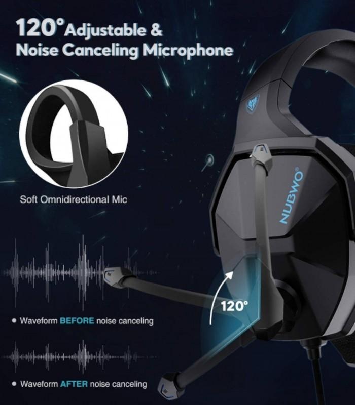 هدست گیمینگ Nubwo N13 با میکروفن برای بازی، کنسول، موبایل و تبلت