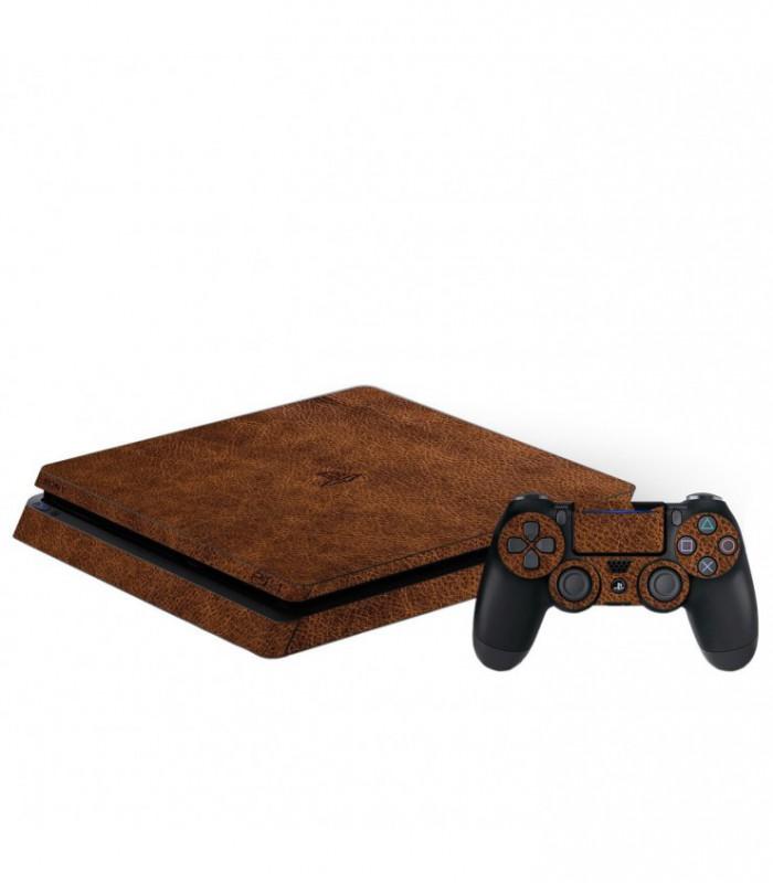 اسکین PS4 اسلیم طرح Leather